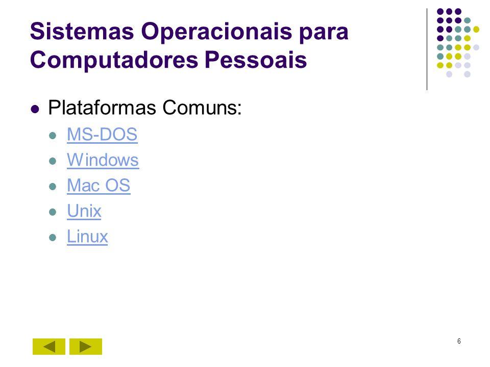 Sistemas Operacionais para Computadores Pessoais