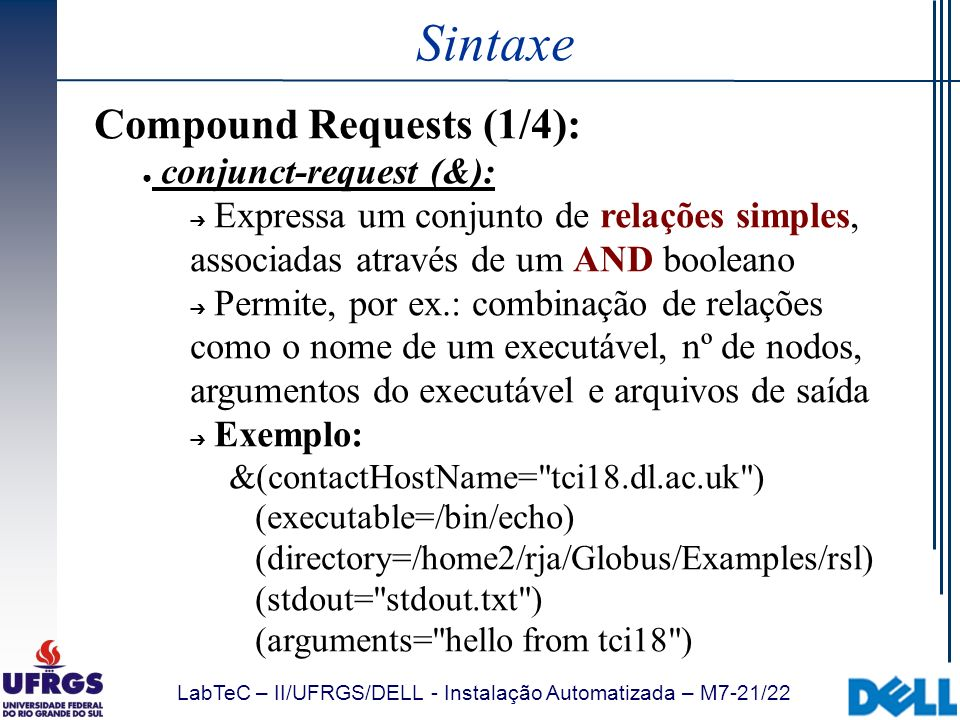 Sintaxe Compound Requests (1/4): conjunct-request (&):