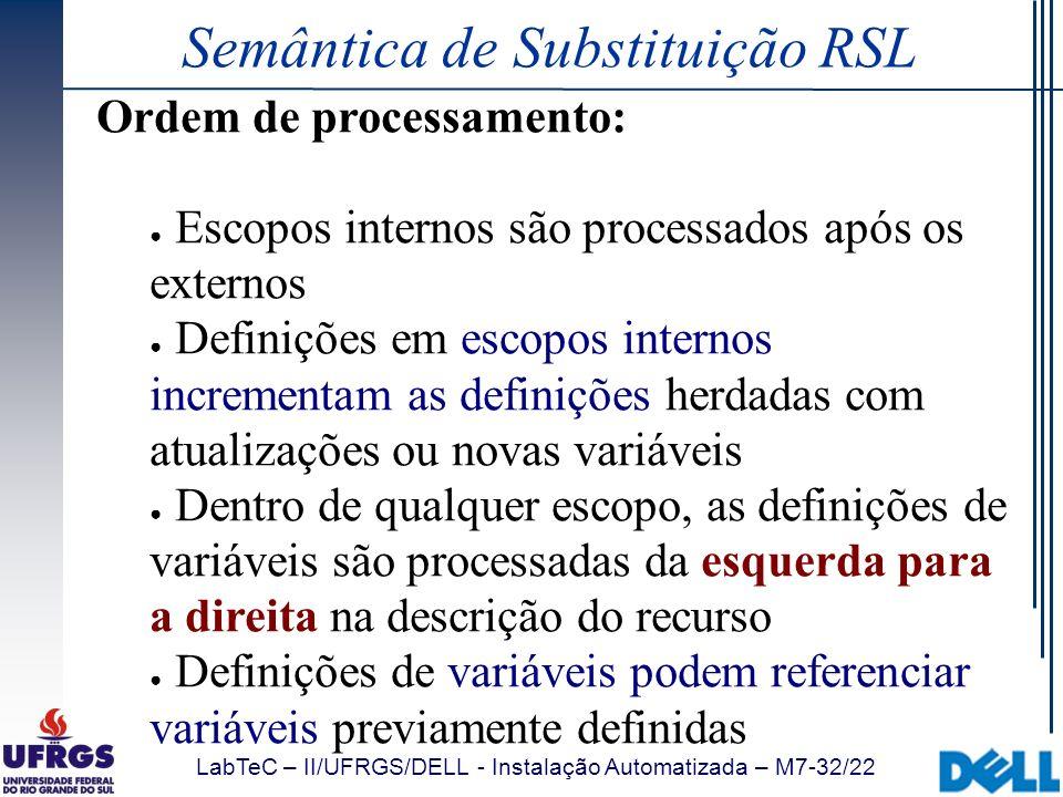 Semântica de Substituição RSL