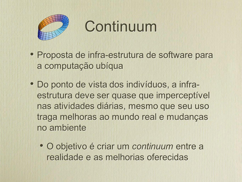 Continuum Proposta de infra-estrutura de software para a computação ubíqua.