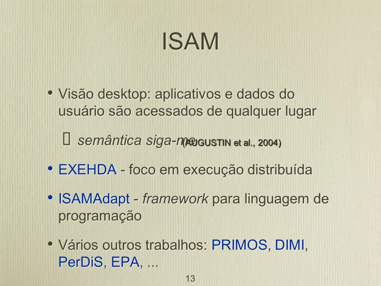 ISAM Visão desktop: aplicativos e dados do usuário são acessados de qualquer lugar. semântica siga-me.