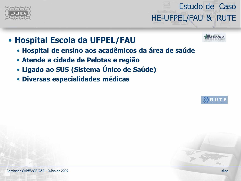 Estudo de Caso HE-UFPEL/FAU & RUTE
