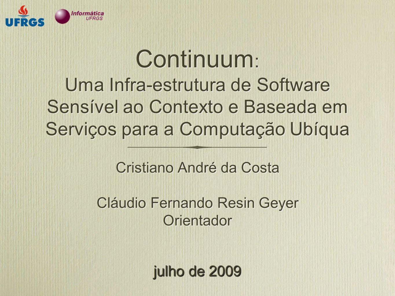 Continuum: Uma Infra-estrutura de Software Sensível ao Contexto e Baseada em Serviços para a Computação Ubíqua