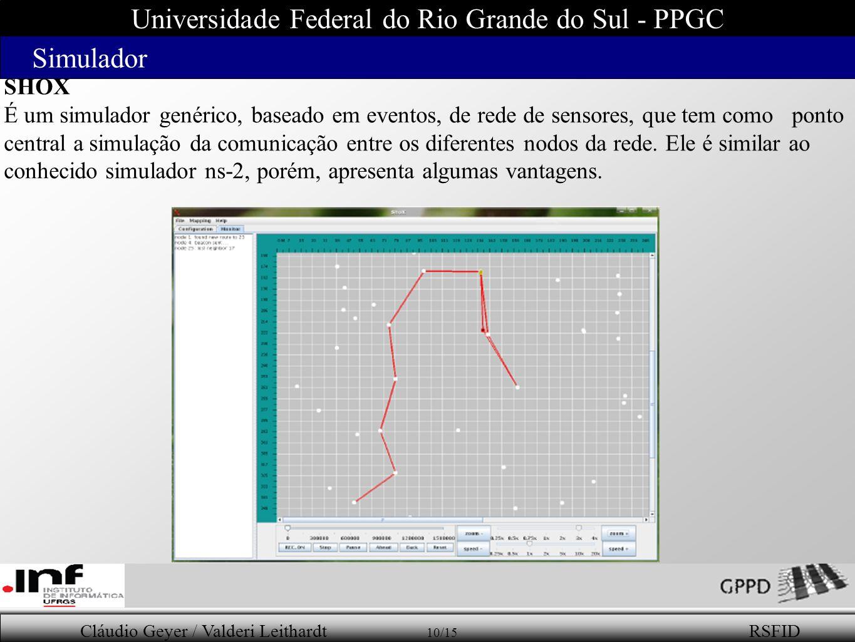 Universidade Federal do Rio Grande do Sul - PPGC Simulador