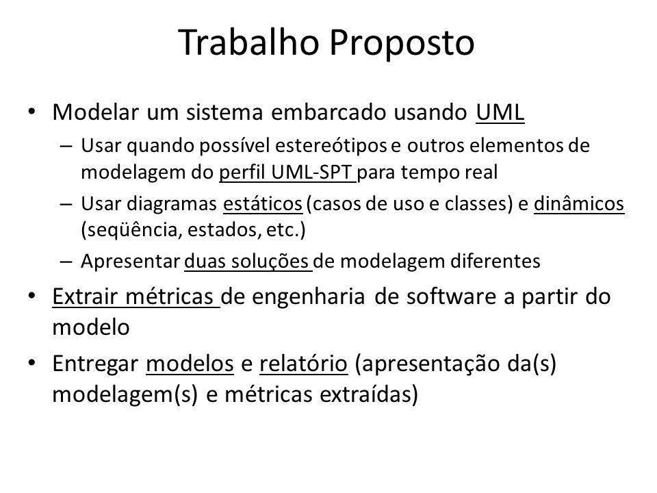 Trabalho Proposto Modelar um sistema embarcado usando UML