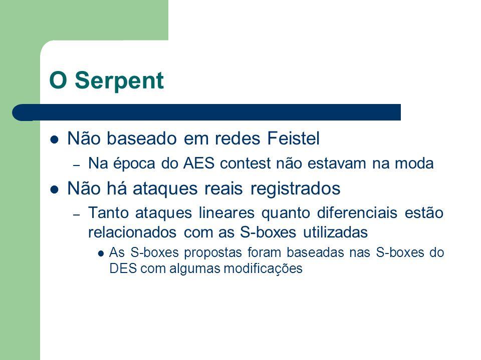 O Serpent Não baseado em redes Feistel