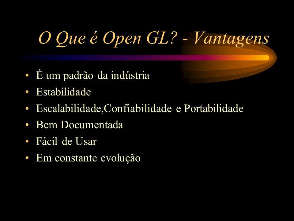 O Que é Open GL - Vantagens