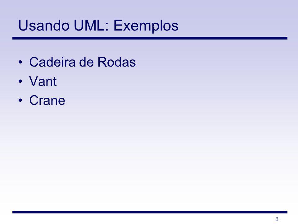 Usando UML: Exemplos Cadeira de Rodas Vant Crane