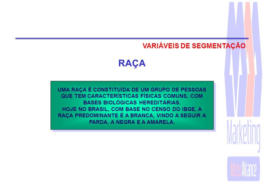 RAÇA VARIÁVEIS DE SEGMENTAÇÃO