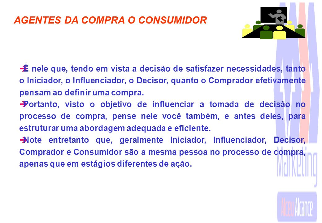 AGENTES DA COMPRA O CONSUMIDOR