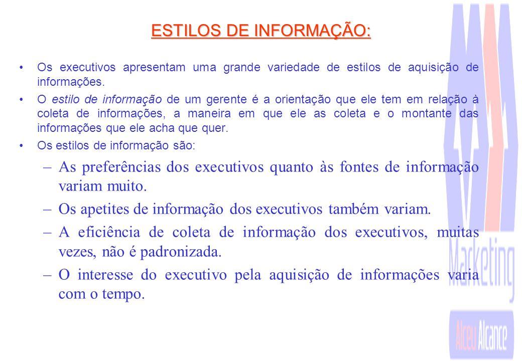 ESTILOS DE INFORMAÇÃO: