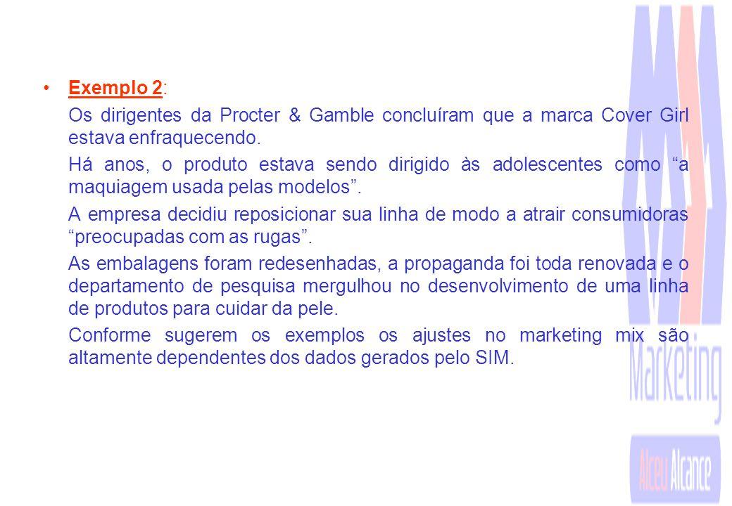 Exemplo 2: Os dirigentes da Procter & Gamble concluíram que a marca Cover Girl estava enfraquecendo.