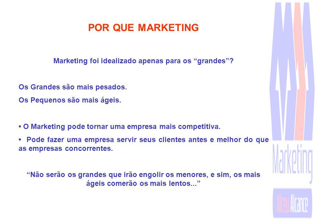 Marketing foi idealizado apenas para os grandes
