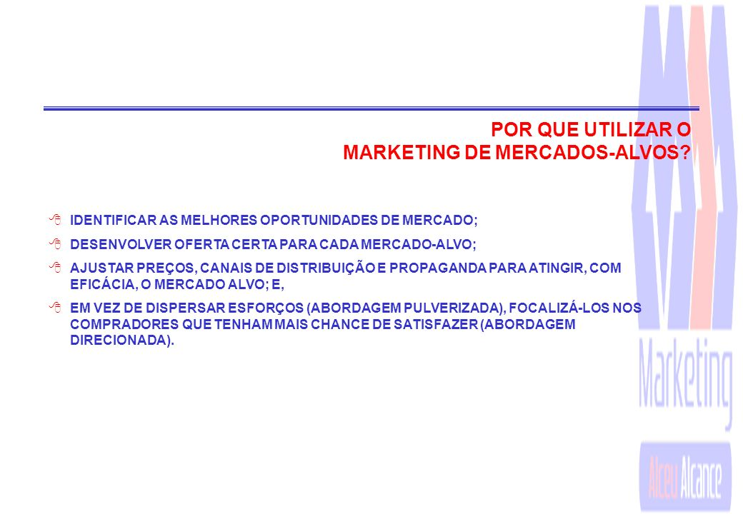 MARKETING DE MERCADOS-ALVOS