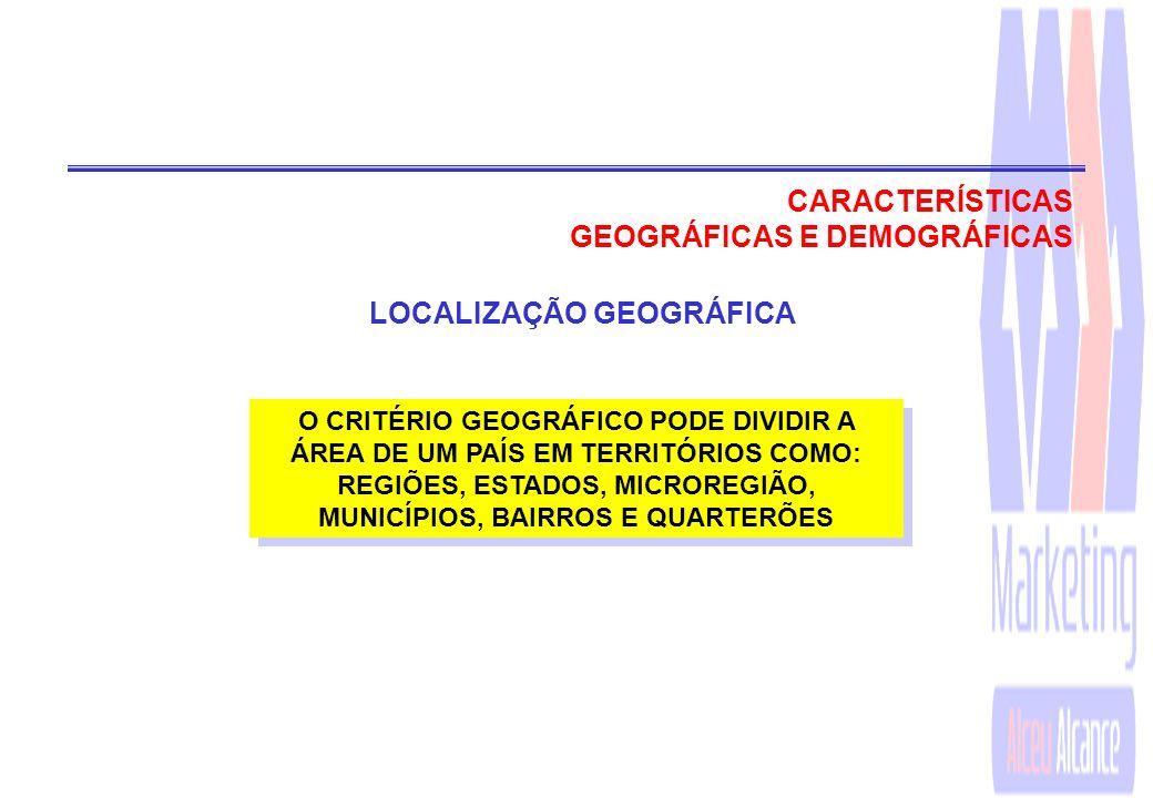 GEOGRÁFICAS E DEMOGRÁFICAS