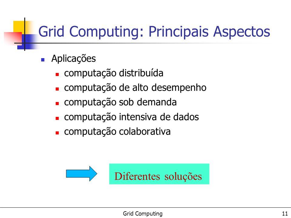 Grid Computing: Principais Aspectos