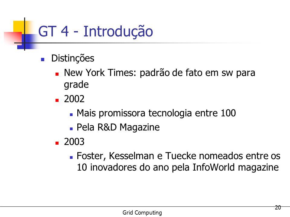 GT 4 - Introdução Distinções