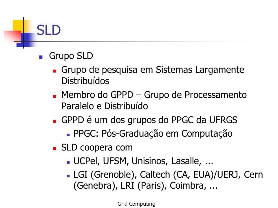 SLD Grupo SLD Grupo de pesquisa em Sistemas Largamente Distribuídos