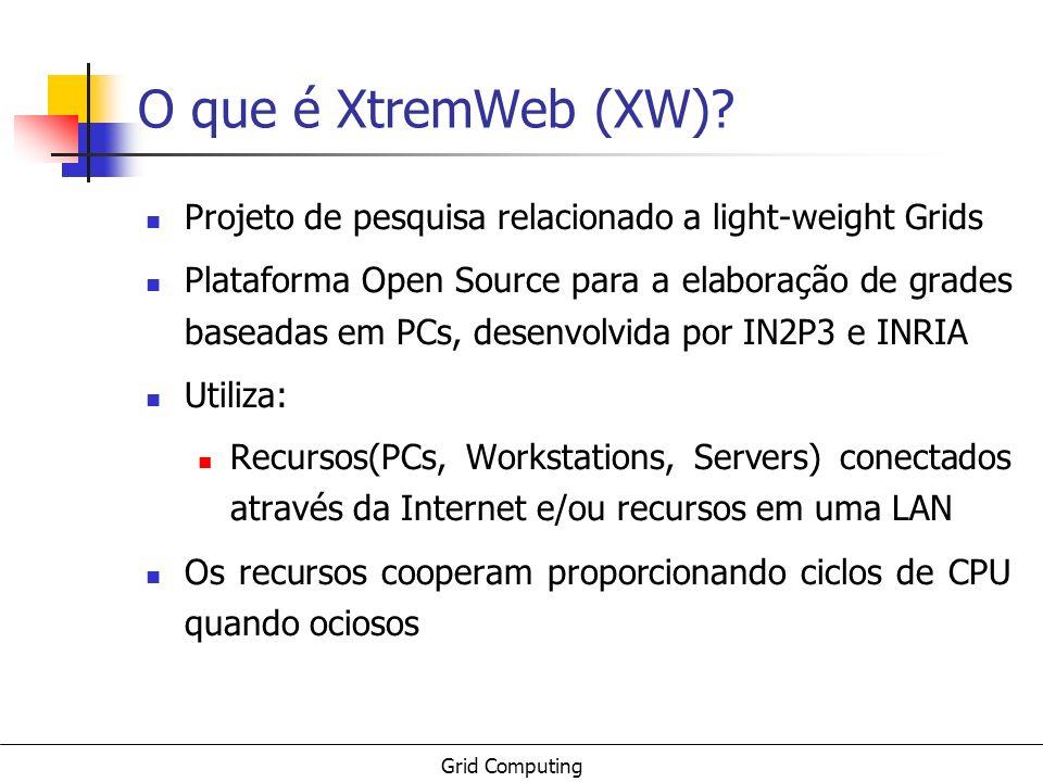 O que é XtremWeb (XW) Projeto de pesquisa relacionado a light-weight Grids.