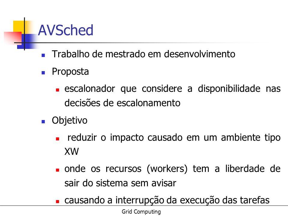 AVSched Trabalho de mestrado em desenvolvimento Proposta