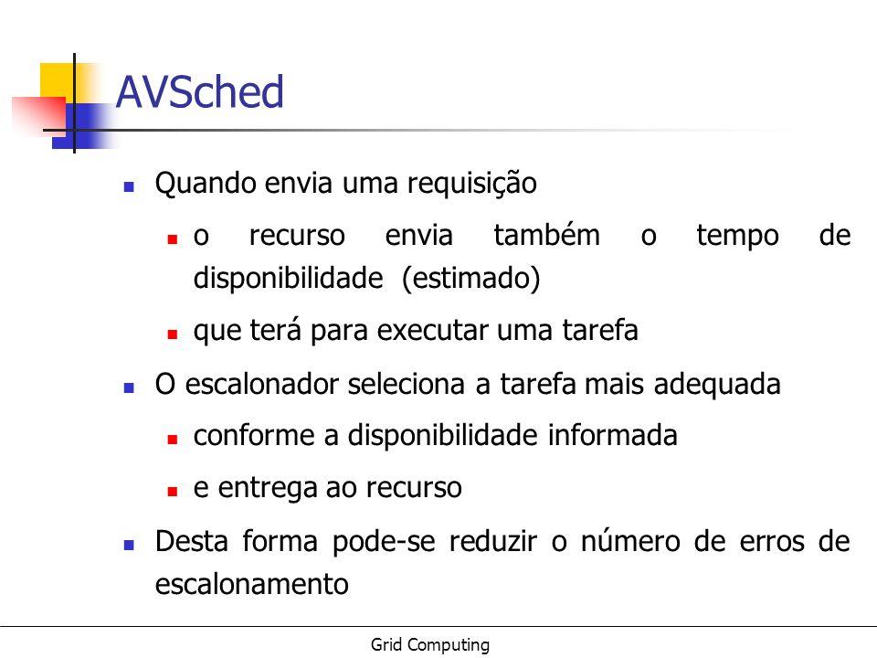 AVSched Quando envia uma requisição
