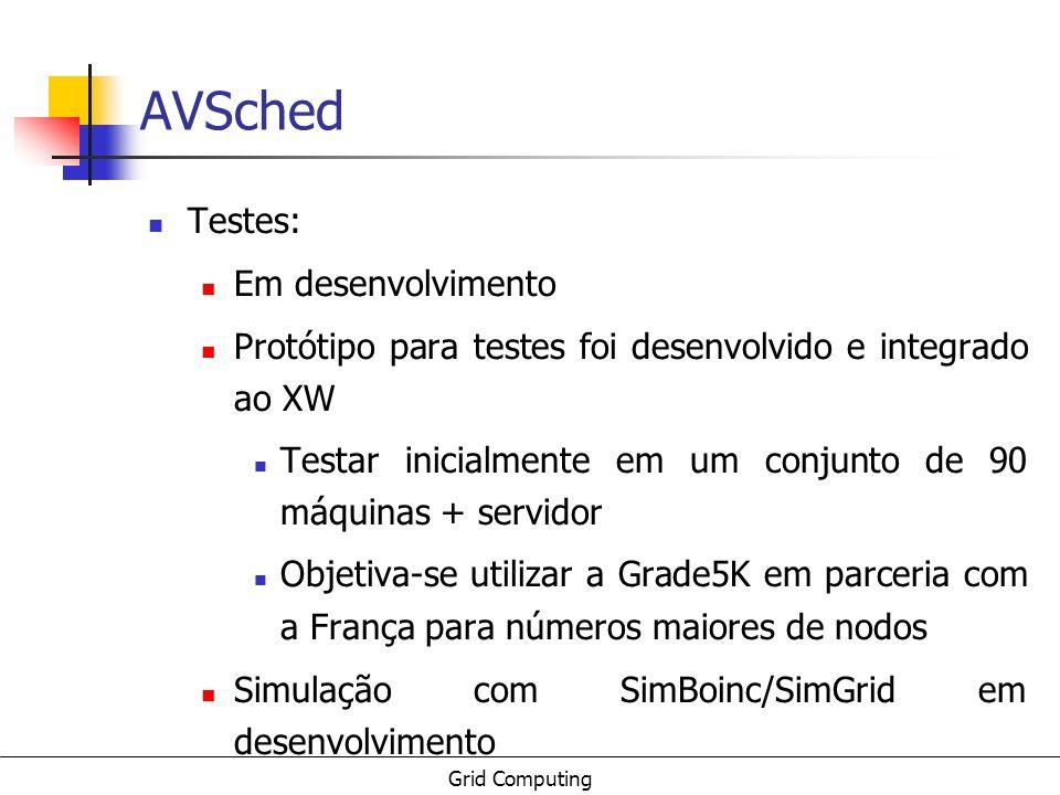 AVSched Testes: Em desenvolvimento
