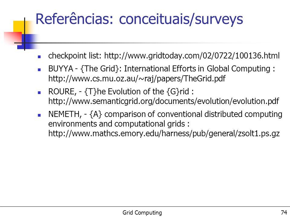 Referências: conceituais/surveys