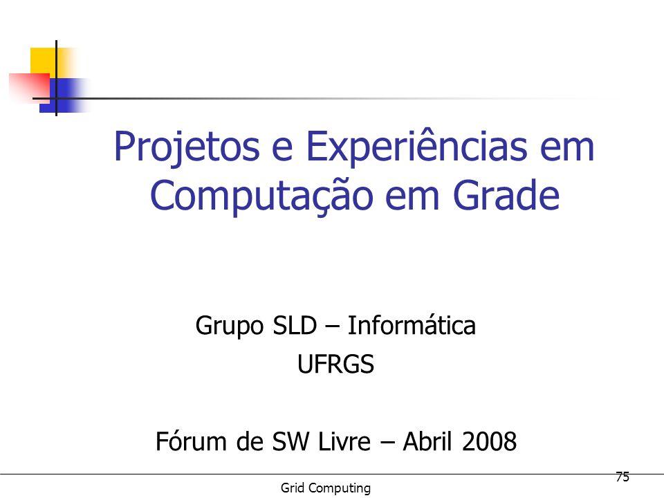 Projetos e Experiências em Computação em Grade