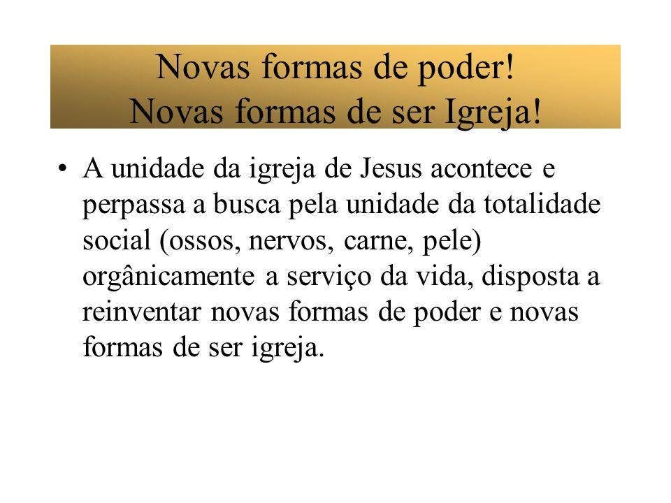 Novas formas de poder! Novas formas de ser Igreja!