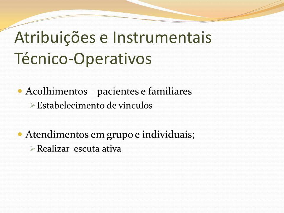 Atribuições e Instrumentais Técnico-Operativos