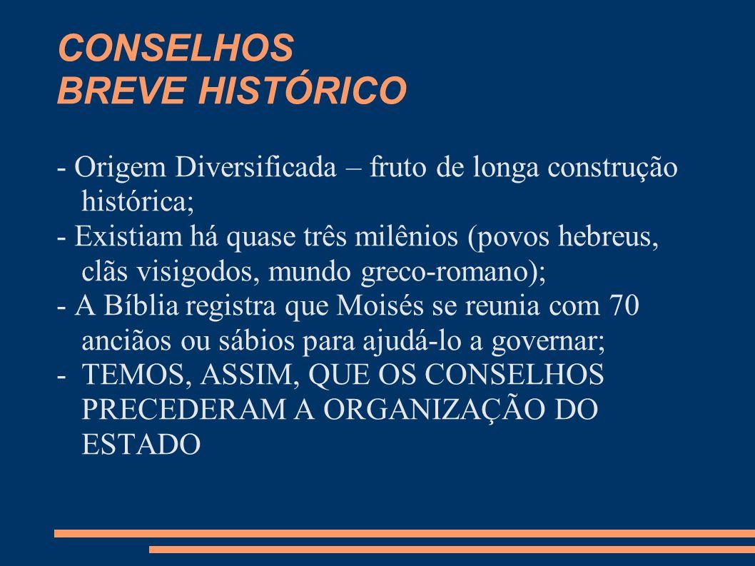 CONSELHOS BREVE HISTÓRICO