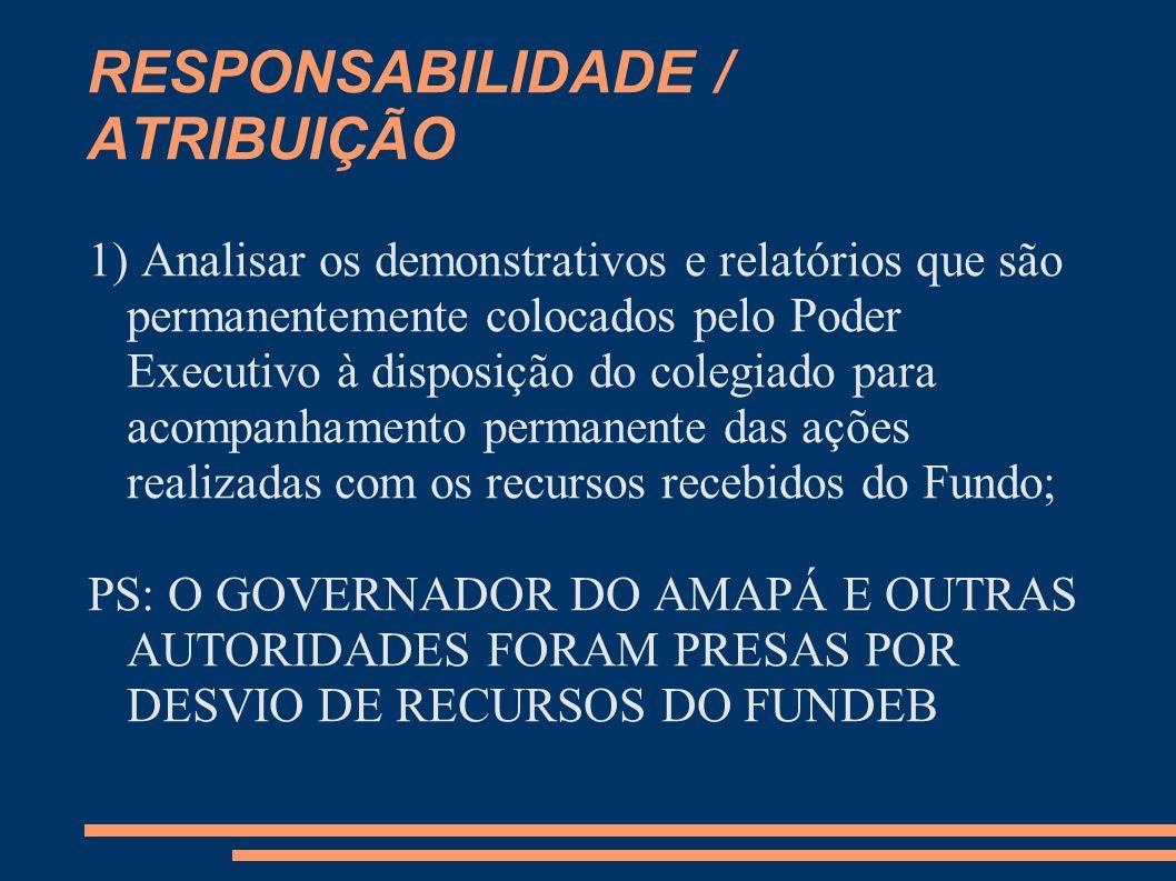 RESPONSABILIDADE / ATRIBUIÇÃO