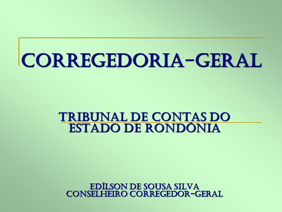 CORREGEDORIA-GERAL TRIBUNAL DE CONTAS DO ESTADO DE RONDÔNIA