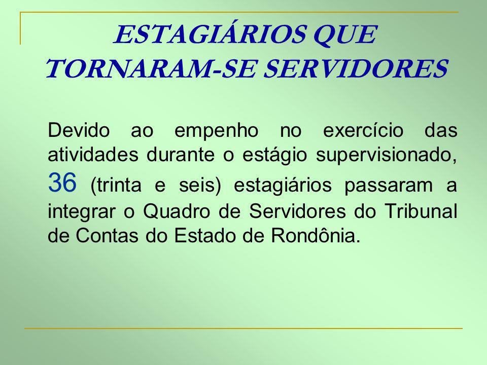 ESTAGIÁRIOS QUE TORNARAM-SE SERVIDORES