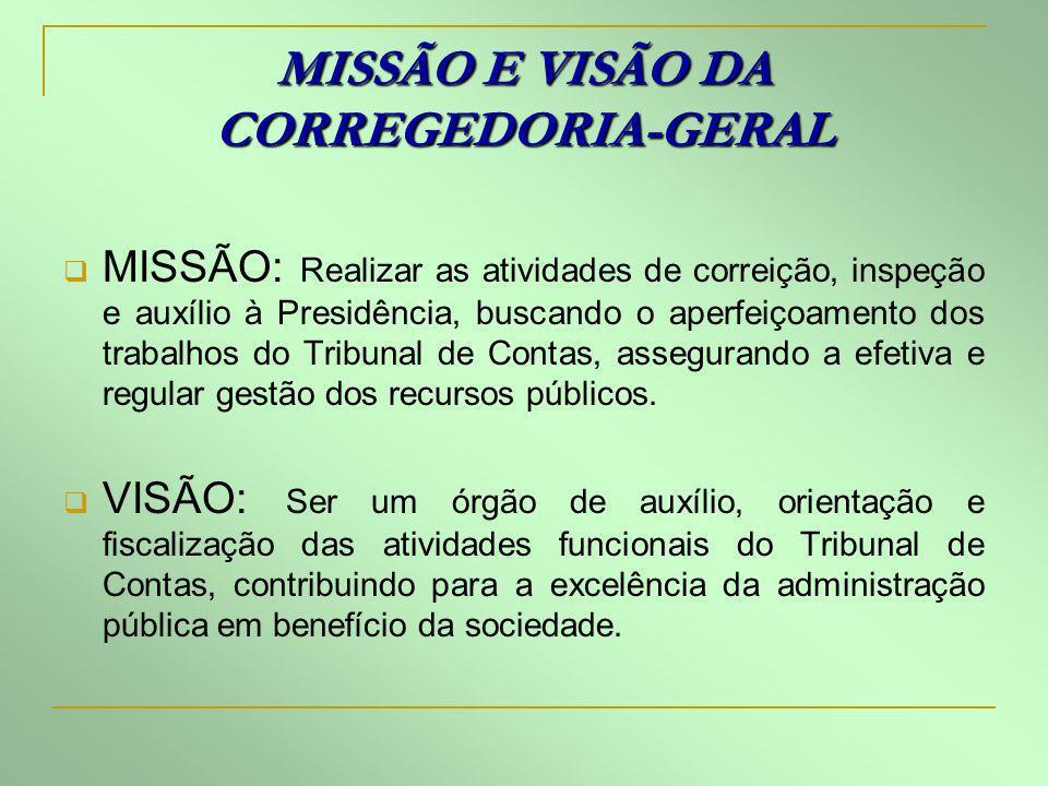 MISSÃO E VISÃO DA CORREGEDORIA-GERAL