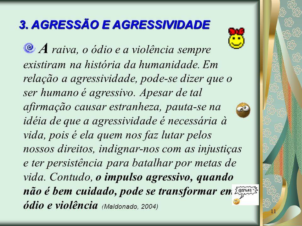 3. AGRESSÃO E AGRESSIVIDADE