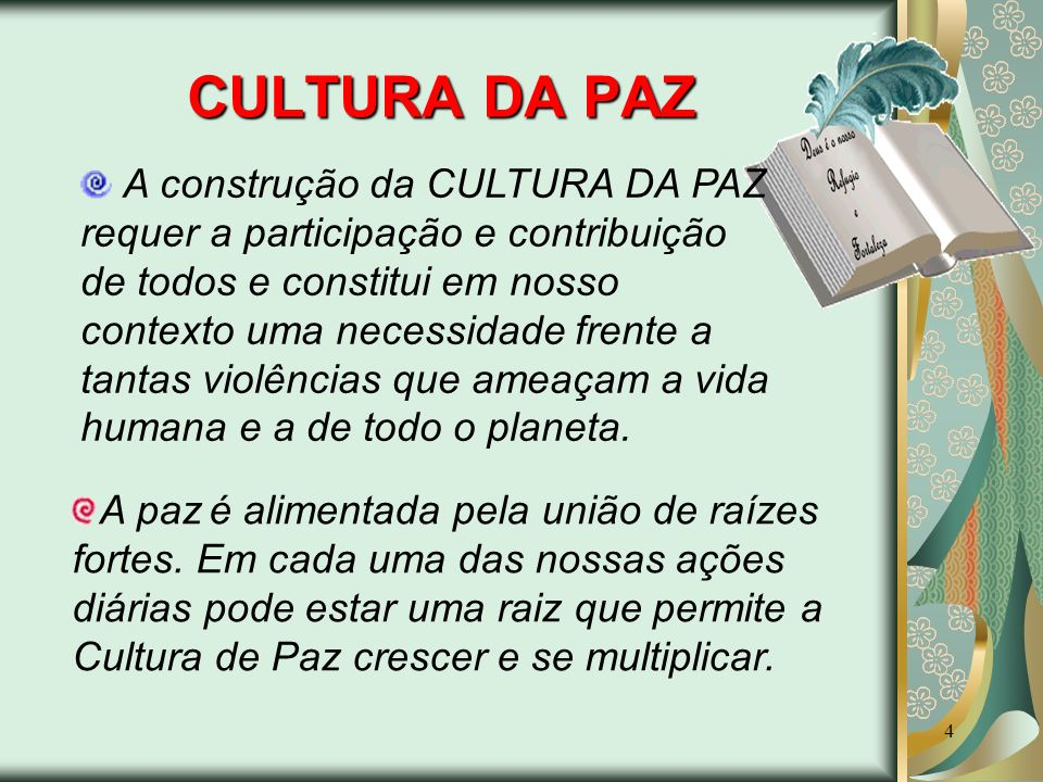 CULTURA DA PAZ