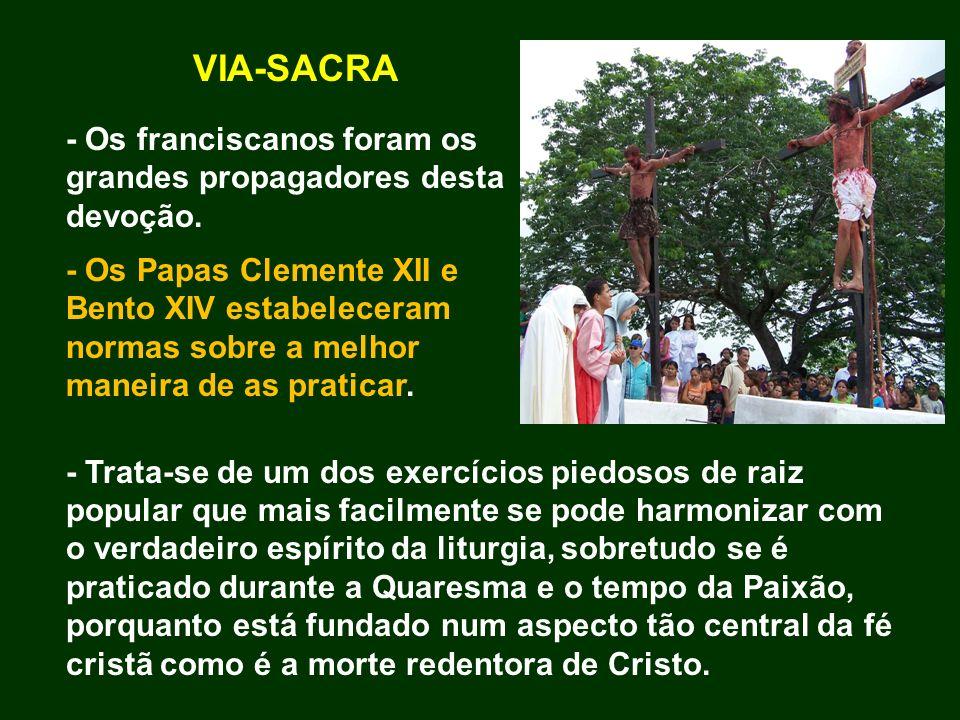 VIA-SACRA - Os franciscanos foram os grandes propagadores desta devoção.