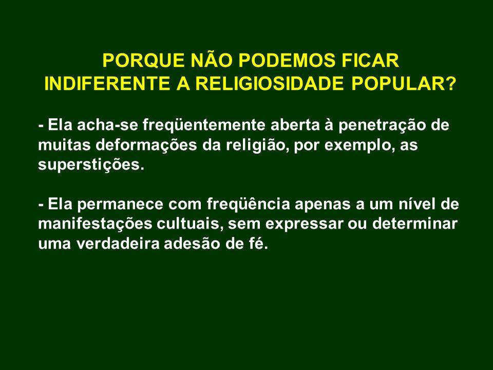 PORQUE NÃO PODEMOS FICAR INDIFERENTE A RELIGIOSIDADE POPULAR