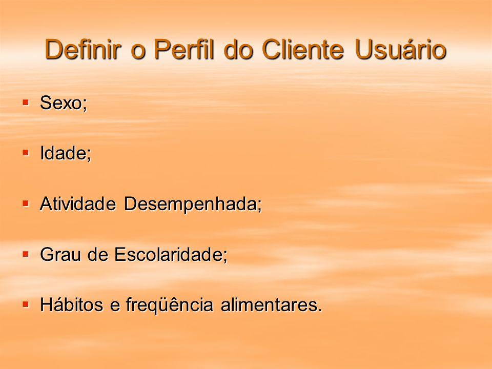 Definir o Perfil do Cliente Usuário
