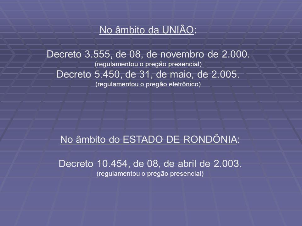 Decreto 3.555, de 08, de novembro de 2.000.