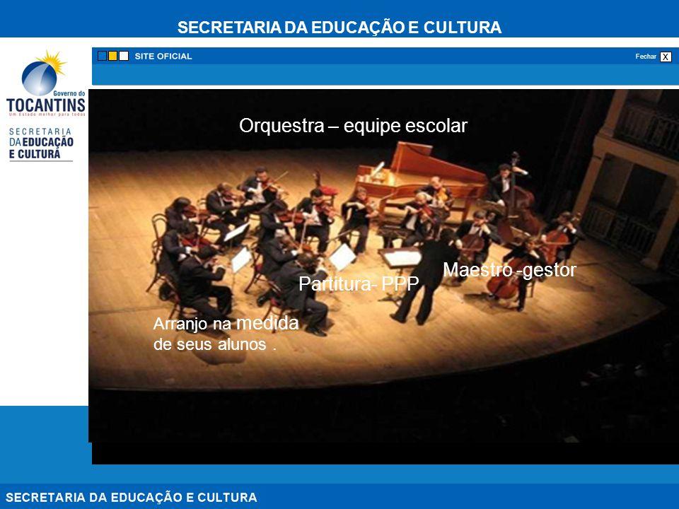 Orquestra – equipe escolar