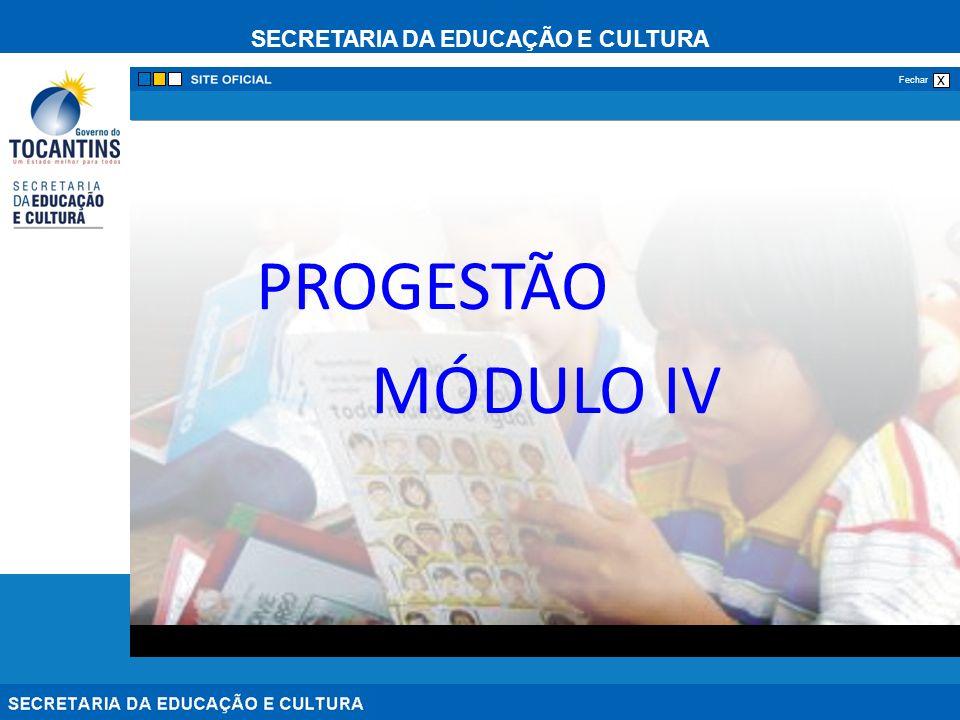 PROGESTÃO MÓDULO IV