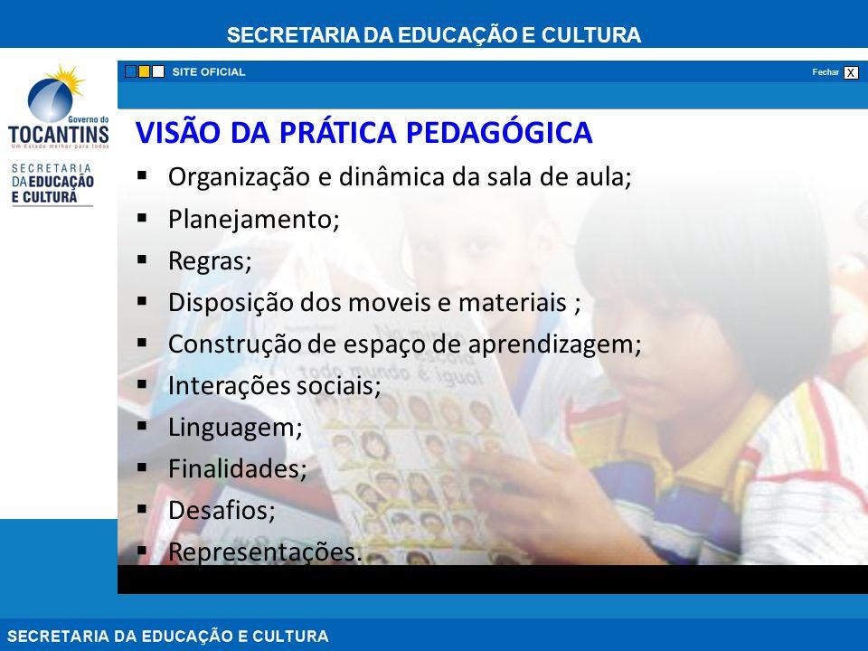 VISÃO DA PRÁTICA PEDAGÓGICA