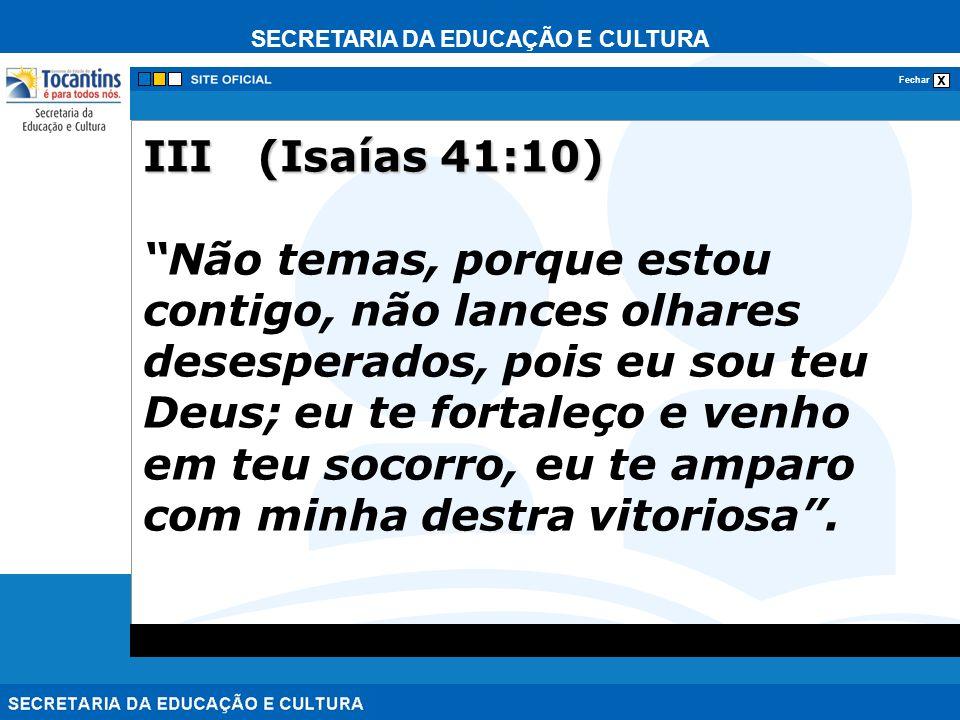 III (Isaías 41:10)