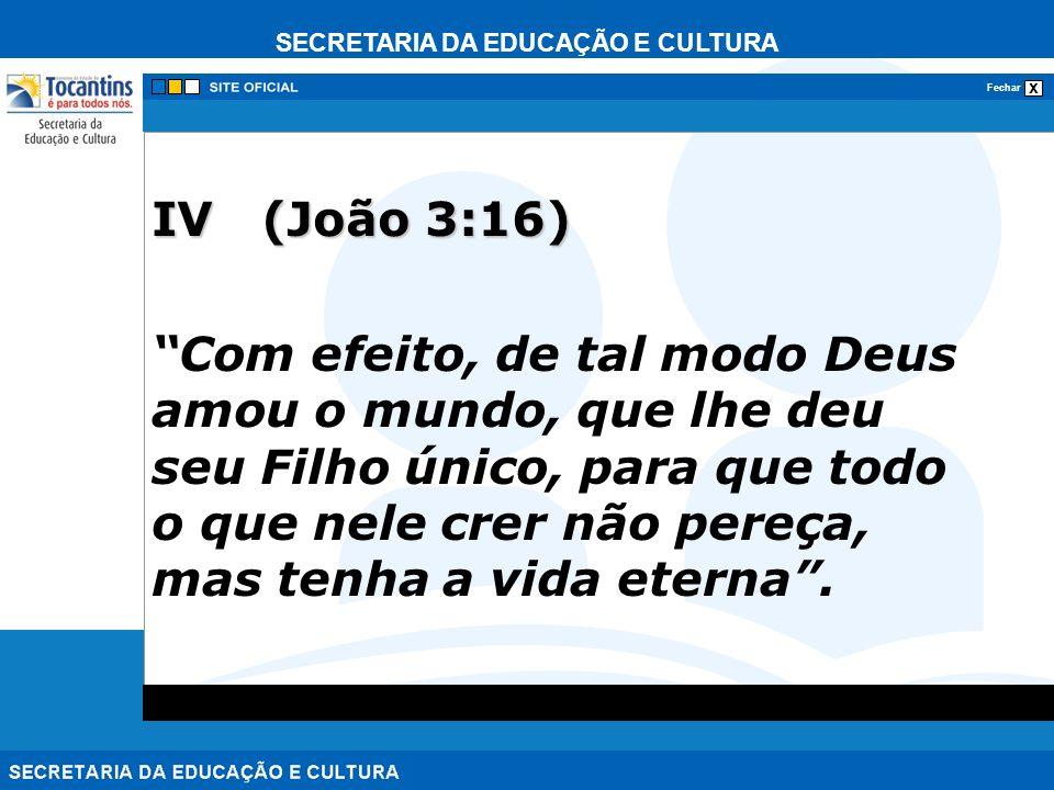 IV (João 3:16)