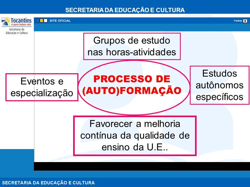 PROCESSO DE (AUTO)FORMAÇÃO