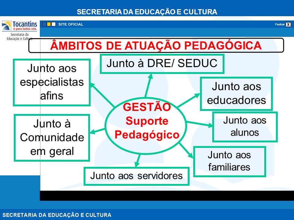 ÂMBITOS DE ATUAÇÃO PEDAGÓGICA