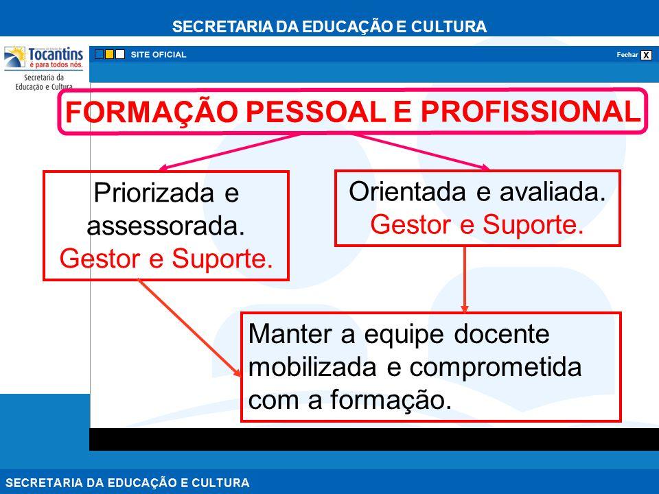 FORMAÇÃO PESSOAL E PROFISSIONAL
