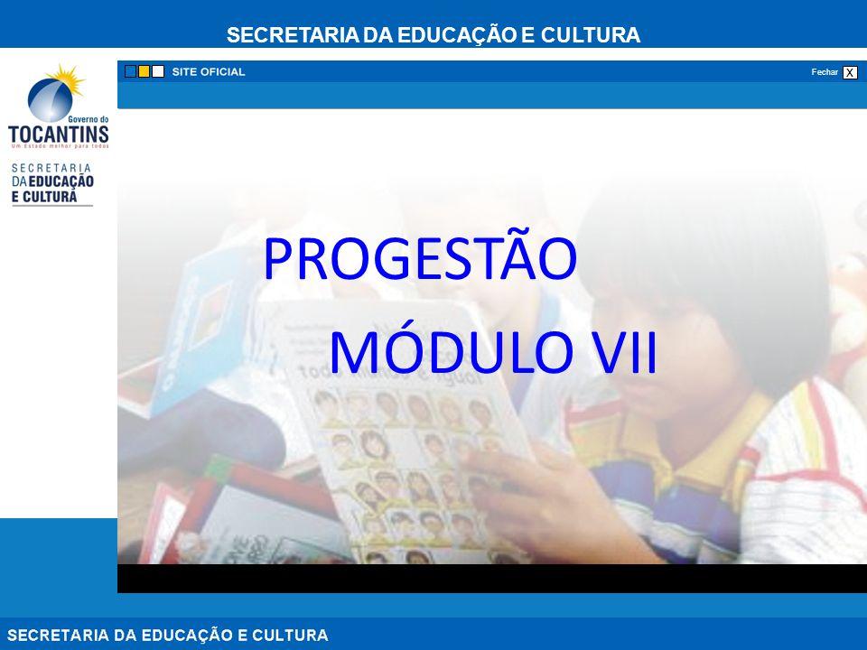 PROGESTÃO MÓDULO VII